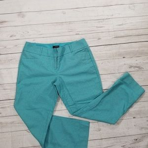 The Limited Women's Crop Pants Aqua Blue Size 6